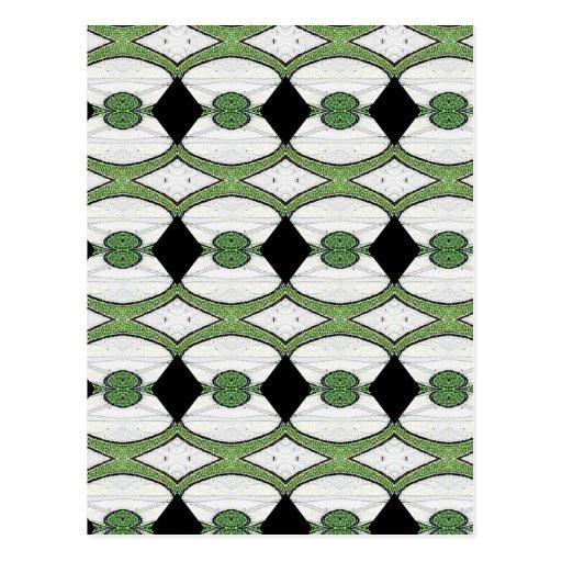 Diseño maravilloso de la materia textil antigua postales