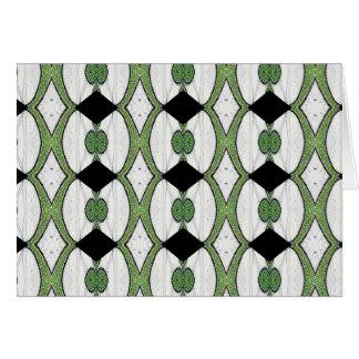 Diseño maravilloso de la materia textil antigua tarjeta de felicitación