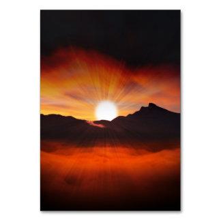 Diseño maravilloso de la puesta del sol