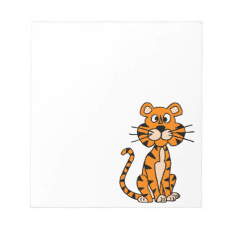 Diseño maravilloso del tigre del dibujo animado blocs de papel
