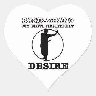 Diseño marcial de Baguazhang Pegatina En Forma De Corazón
