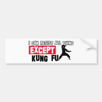 diseño marcial del fu del kung pegatina para auto