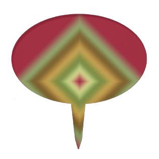 Diseño marrón abstracto de encargo decoración para tarta