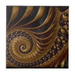Diseño marrón artístico del fractal tejas