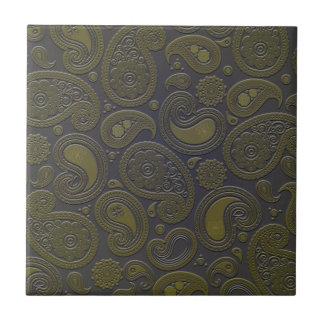 Diseño marrón rojizo de Paisley Azulejo Ceramica