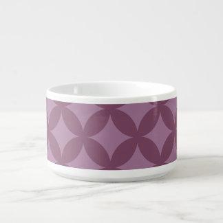 Diseño marrón y púrpura de Geocircle Tazón