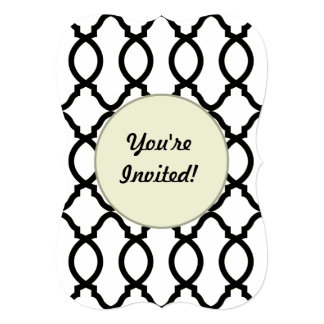 """Diseño marroquí de moda del enrejado del decorador invitación 5"""" x 7"""""""