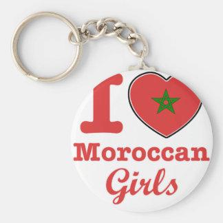 Diseño marroquí llavero redondo tipo pin