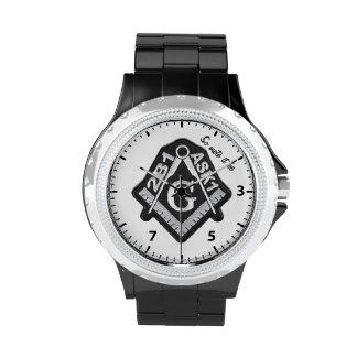 diseño masónico del reloj 2B1Ask1