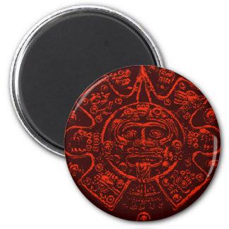 Diseño maya de la imagen del calendario imán