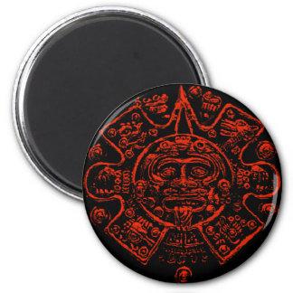 Diseño maya de la imagen del calendario imán redondo 5 cm
