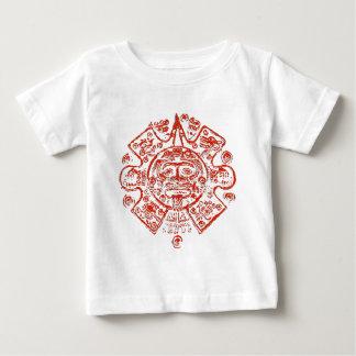 Diseño maya de la imagen del calendario playera de bebé