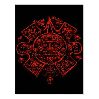 Diseño maya de la imagen del calendario postales