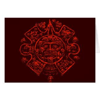 Diseño maya de la imagen del calendario tarjeta de felicitación