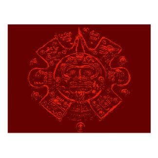 Diseño maya de la imagen del calendario tarjetas postales