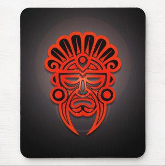 Diseño maya de la máscara (rojo) alfombrilla de ratones