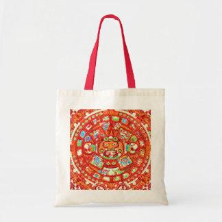 Diseño maya del calendario 2012 bolsa tela barata