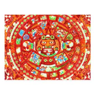 Diseño maya del calendario 2012 tarjetas postales