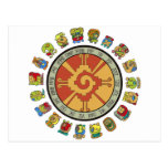 Diseño maya del calendario postales