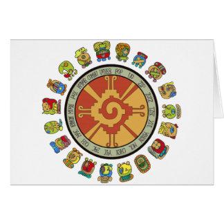 Diseño maya del calendario tarjeton