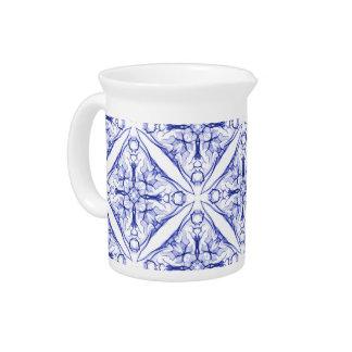 Diseño medieval azul jarrón