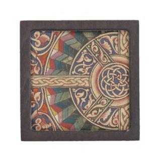 Diseño medieval céltico el en semi-círculo caja de recuerdo de calidad