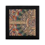 Diseño medieval céltico el en semi-círculo joyero cuadrado pequeño