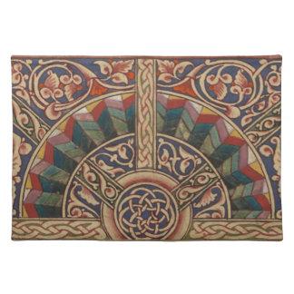 Diseño medieval céltico el en semi-círculo manteles individuales