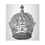 Diseño medieval de la corona de la heráldica blocs