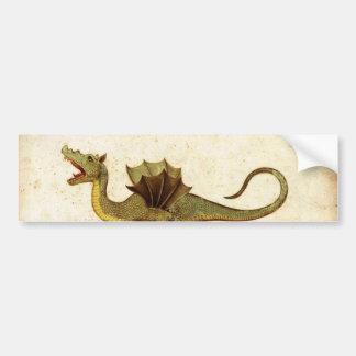 Diseño medieval del dragón del vintage pegatina de parachoque