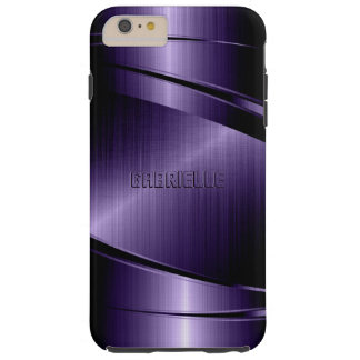 Diseño metálico brillante púrpura funda resistente iPhone 6 plus