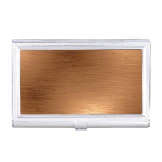 Diseño metálico de cobre de Burshed Cajas De Tarjetas De Negocios
