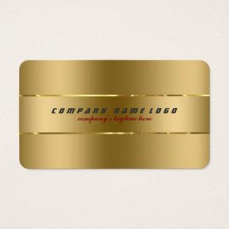 Diseño metálico del oro llano moderno simple tarjetas de visita