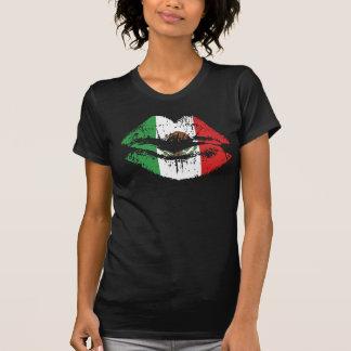 Diseño mexicano de la camiseta de los labios para