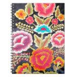 Diseño mexicano del bordado libreta