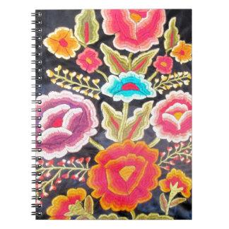Diseño mexicano del bordado libretas