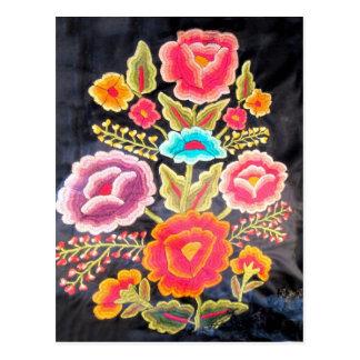 Diseño mexicano del bordado postales
