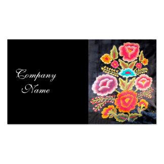 Diseño mexicano del bordado plantilla de tarjeta de visita