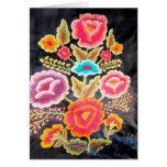 Diseño mexicano del bordado tarjeta de felicitación
