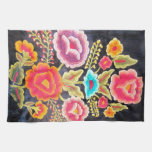 Diseño mexicano del bordado toalla