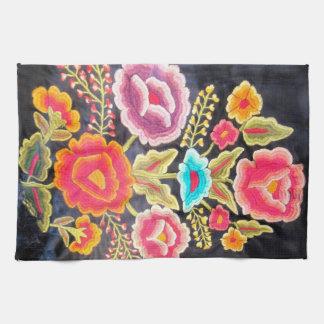 Diseño mexicano del bordado toallas de cocina