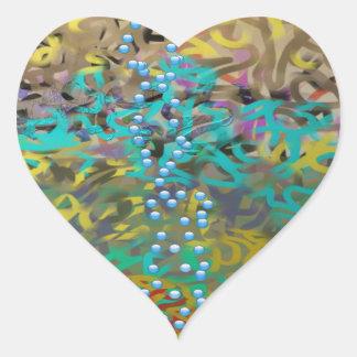 Diseño mezclado del extracto de las pastas pegatina en forma de corazón