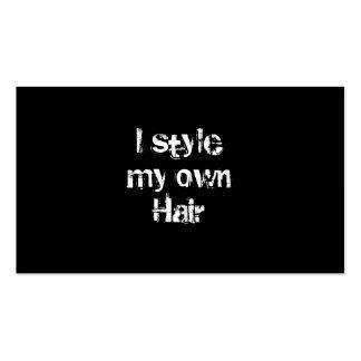 Diseño mi propio pelo. Blanco y negro. Tarjetas De Visita
