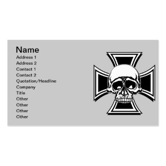 Diseño militar cruzado del cráneo del emblema del tarjetas de visita