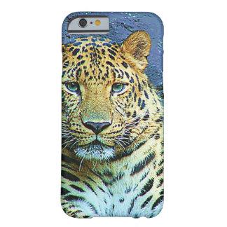 Diseño misterioso del primer del leopardo funda para iPhone 6 barely there