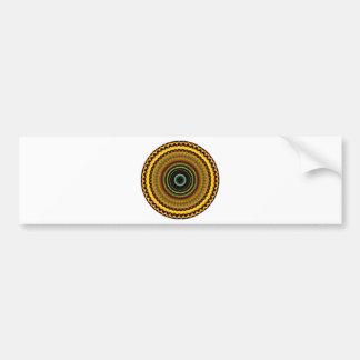 Diseño místico 12 del caleidoscopio etiqueta de parachoque