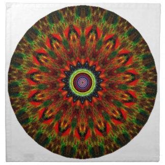 Diseño místico 13 del caleidoscopio servilleta de papel