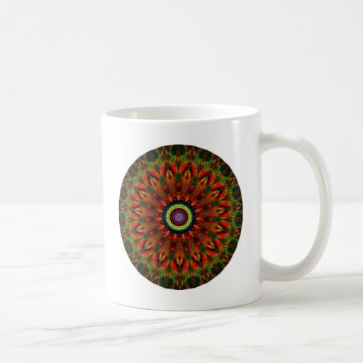 Diseño místico 13 del caleidoscopio tazas de café