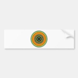 Diseño místico 39 del caleidoscopio pegatina de parachoque