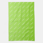 Diseño modelado verde lima brillante del fondo toallas